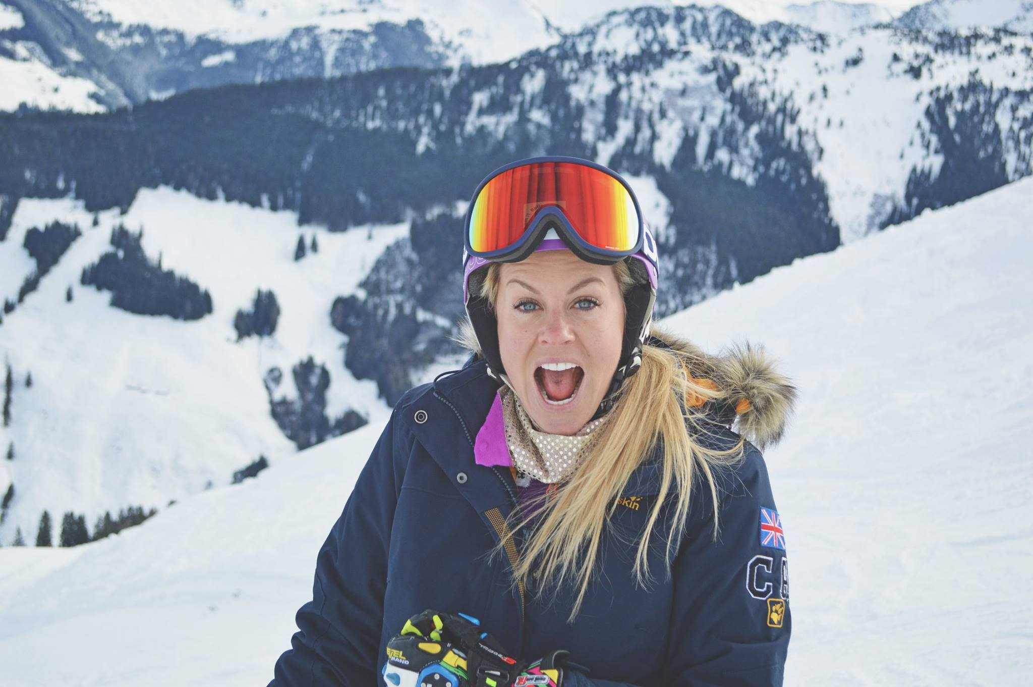 Chemmy Alcott in the mountains