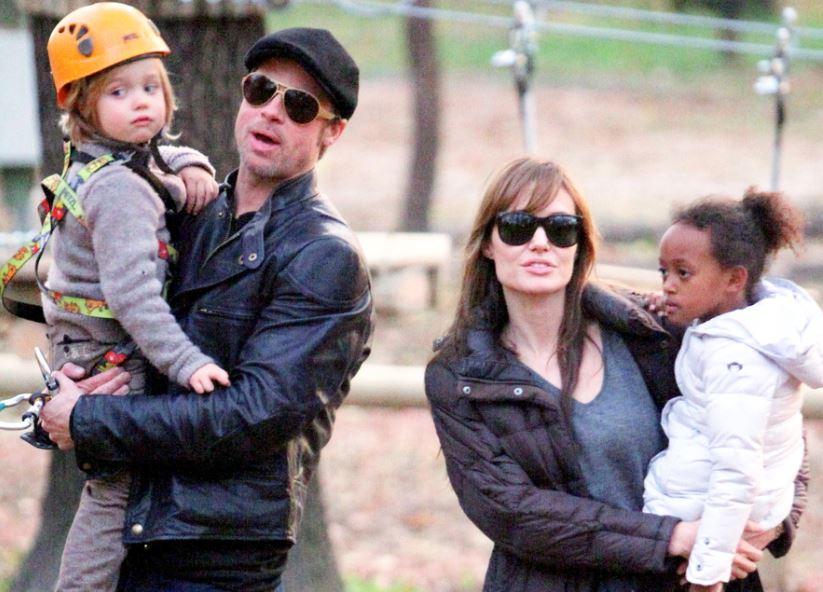 Pitt family Angelina Jolie And Brad Pitt Kids 2013