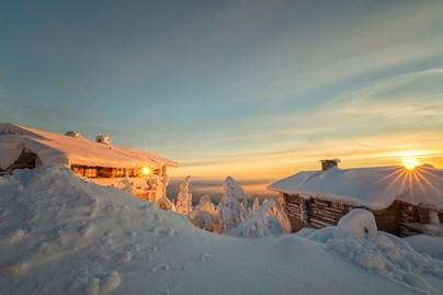 Sunset in Norwegian Lapland