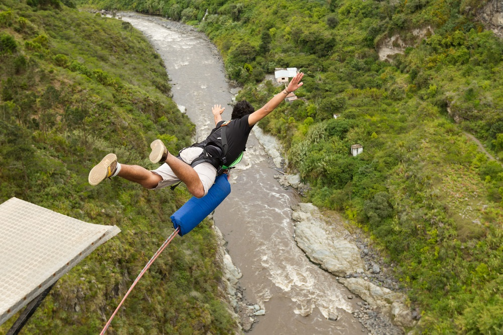 Bungee jumping abroad