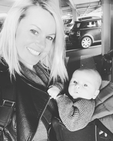 Chemmy Alcott - travelling with a 10 week old baby