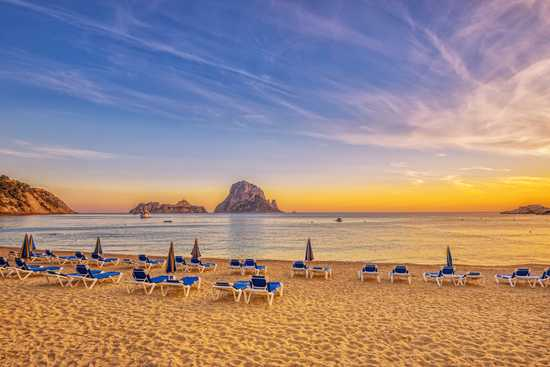 Ibiza beach sunset