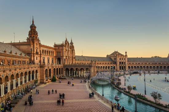 Seville Spain view of the Plaza de Espana