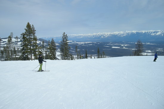 Kimberley Alpine resort in British Columbia Canada skiing with panorama