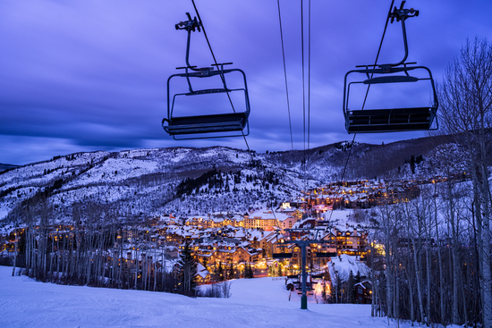 night view from Beaver Creek resort in Colorado USA