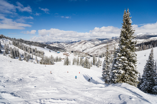 Vail Colorado valley USA skiing with panorama