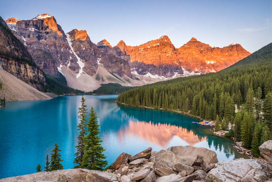 Canada lake mountain sunset