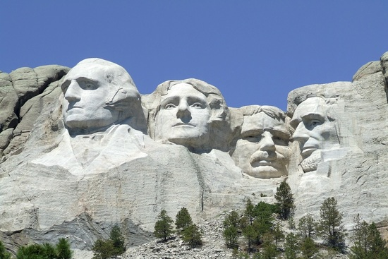 faces of the presidents mount rushmore south dakota