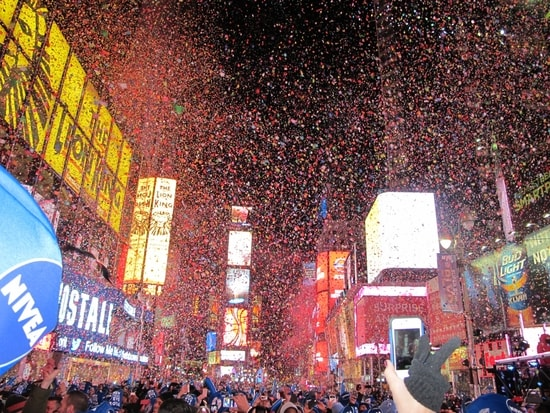 Watch the Ball Drop in New York's Times Square for the ultimate celebration