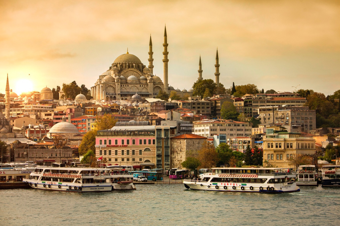 Istanbul sits on the divide between Europe and Asia, therefore is a transcontinental city