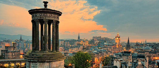 Edinburgh sunset Scotland