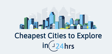 The cheapest cities to explore in 24 hours