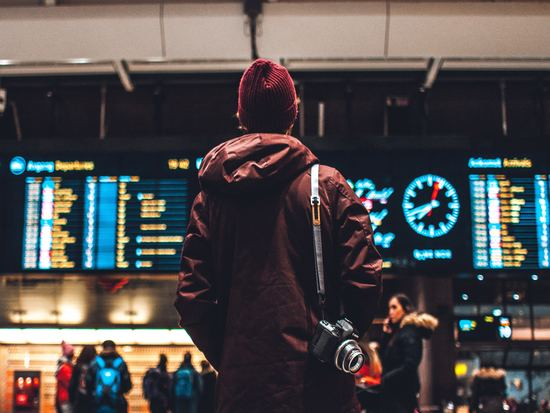 Man standing at airport