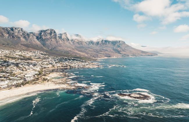 Coastline in Cape Town in South Africa